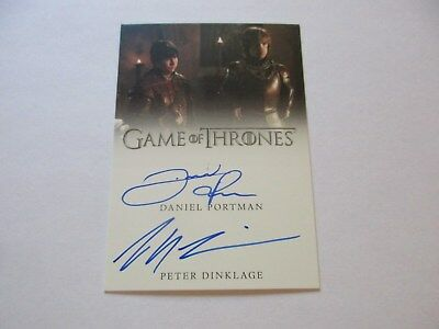 Game of Thrones Valyrian Steel Peter Dinklage & Daniel Portman Dual Autograph