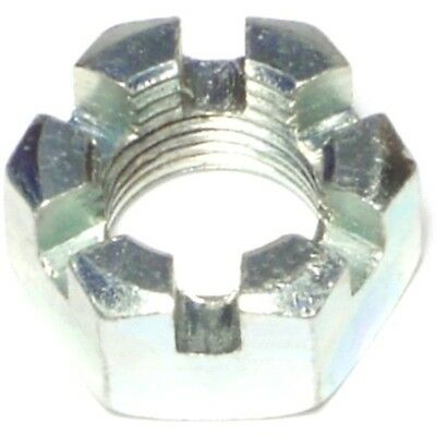 "9/16-12 SLOTTED Hex Nut  (4 pc) Zinc 9/16"" x 12 Castle Nut MADE IN USA"