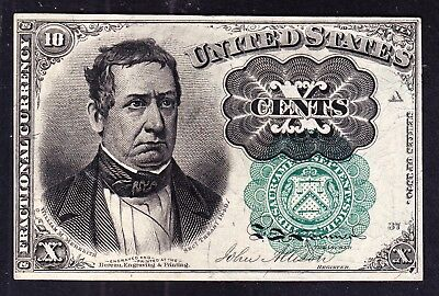 US 10c Fractional Currency 5th Issue Green Seal Pos A 37 FR 1264 Ch CU