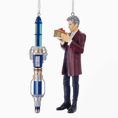 Doctor Who & Sonic Screwdriver Ornament Gift Set of 2 s New in Box