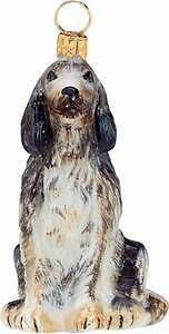 English Setter Handblown Glass Christmas Ornament