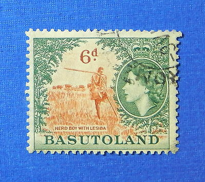 1954 BASUTOLAND 6d SCOTT# 51 S.G.# 48 USED                               CS20175