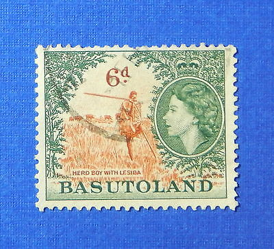 1954 BASUTOLAND 6d SCOTT# 51 S.G.# 48 USED                               CS20169