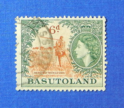1954 BASUTOLAND 6d SCOTT# 51 S.G.# 48 USED                               CS20170