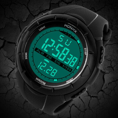 Luxury Men Analog Digital Military Army Sport LED Waterproof Wrist Watch WATCHES