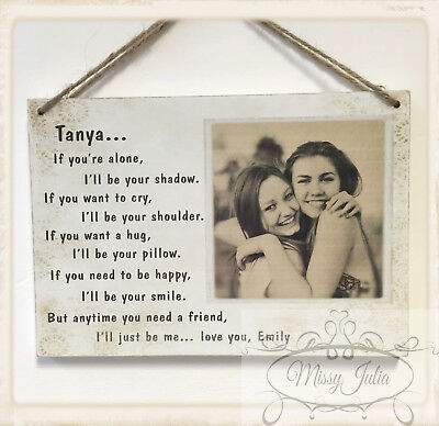 Personalised Best Friend Gift Idea Plaque YOUR OWN PHOTO Birthday Christmas Z1