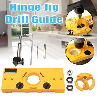 35mm Concealed Cabinet Hinge Jig Wood Hole Saw Drill Locator For Kreg Guide Tool