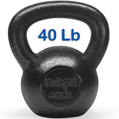 Yes4All 40 lb Kettlebell Weights for Workout - Solid Cast Iron Kettlebells