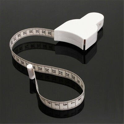 "Retractable Body Measuring Ruler Sewing Cloth Tailor Tape Measure Soft 60"" 1.5M"