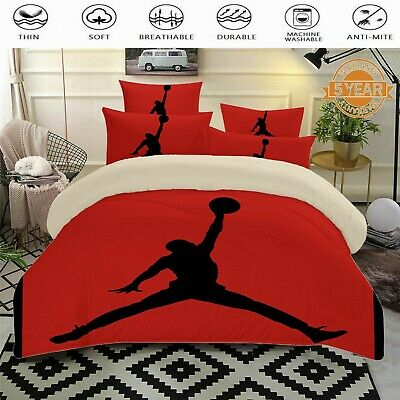 Sports Basketball Doona Duvet Quilt Covers Set Single Double Queen King Size Bed