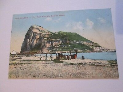 Postcard of Gibraltar, The Rock from the Spanish Beach (Unposted)