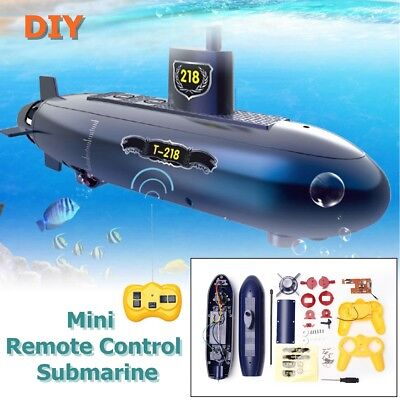 6 Channels Mini RC Submarine Remote Control Under Water Boat Ship Kids Gift Toy