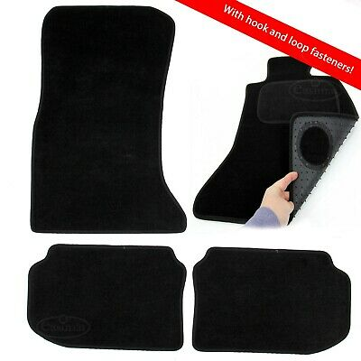 BMW 5 Series F10 F11 2010-2016 Tailored Carpet Car Mats Black 4pcs Velcro Tabs