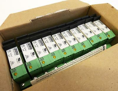 10x Phoenix Contact PLC-BSC-230UC/21/21 2967044 + 2961202 Relais -unused-