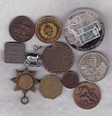 11 Various Old Commemorative Medals Average Very Fine