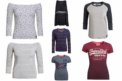 New Womens Superdry Factory Second Tops Selection 2 Various Styles & Colours 281