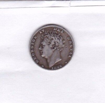 1826 George Iv Sixpence In Good Fine Or Better Condition