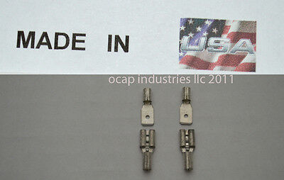 (100) 22-18 187 Spade Quick Disconnect Non Insulated Male ~ Female Made In Usa