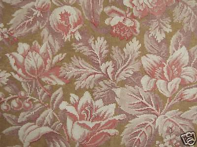 LENGTH FOUR ~ wonderful antique printed cotton fabric material