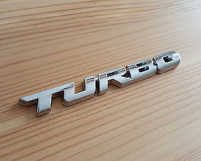 Silver Chrome 3D Metal TURBO Badge Sticker for BMW 1 2 3 4 5 6 7 8 Series 1M M