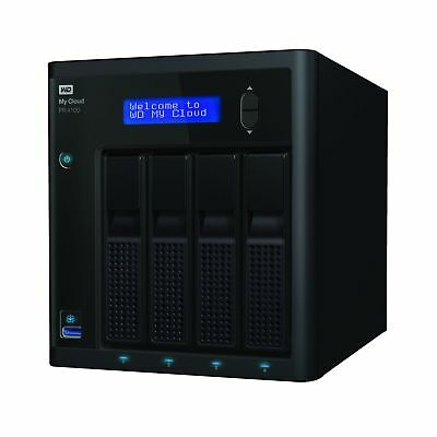 WD 8TB My Cloud PR4100 Pro Series NAS Media Server with Transcoding in Black New