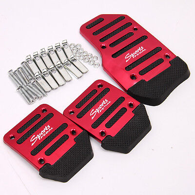 Racing Sports Car Manual Transmission Red Pedal Cover Brake Clutch Accelerator