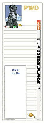 Portuguese Water Dog Notepad & Pencil Gift Set