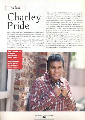 """Charley Pride, Country Music Star in 2014 Magazine Print Article. """"Pioneers"""""""