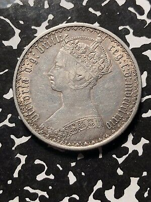 1874 Great Britain Gothic Florin Lot#JM058 Silver! Nice!