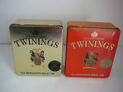 Twinings Tea Tins English Breakfast & Earl Grey Collectable Advertising