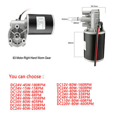 Gearbox Speed Torque Reversible Gearmotor Adapter 12V/24V/110V/220V 6RPM-320RPM