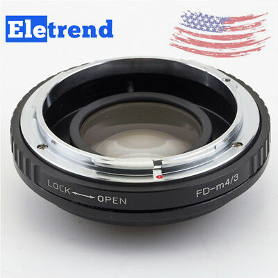 US Focal Reducer Speed Booster adapter Canon FD Lens to Micro 4/3 Camera OM-D