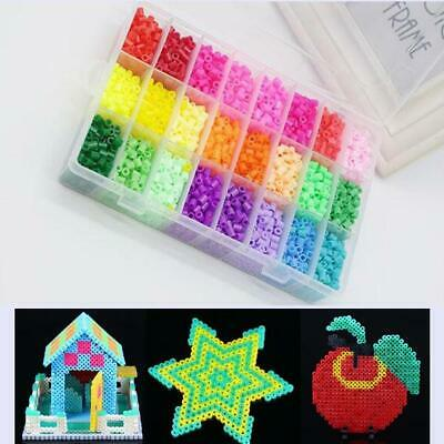 Kids Hama Beads Perler Beads 5MM Box Set Fancy 3600pcs DIY Educational Toys