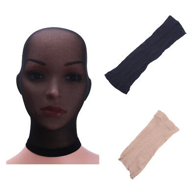 Sheer Lingerie Stockings Headgear Full Head Cover Pantyhose Mask Hood Role Play