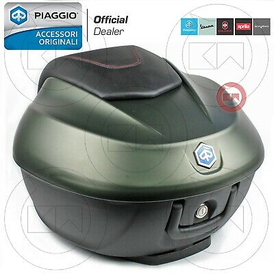 KIT BAULETTO 36LT VERDE OPACO 333/A ORIGINALE PIAGGIO BEVERLY 350 ie EURO4 2017