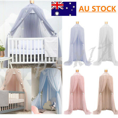 AU!! Kids Baby Bed Canopy Bedcover Mosquito Net Curtain Bedding Dome Tent Cotton