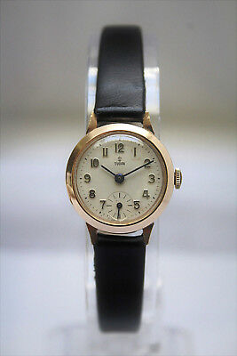 TUDOR by ROLEX - SOLID GOLD LADIES VINTAGE WATCH - BEAUTIFUL!! - NO RESERVE!!