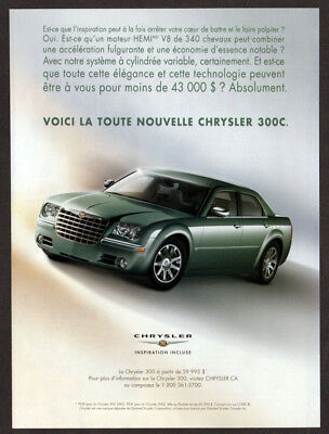 2005 CHRYSLER 300C Original Print AD - Gray car photo french canadian with price