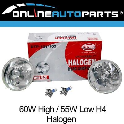 "2 x 7"" Round Headlight Kit H4 Halogen Conversion Pair Head Lamp Upgrade"