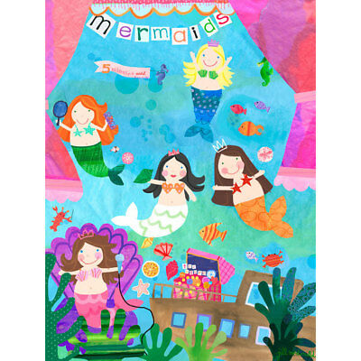 Oopsy Daisy Mermaid Performance Stretched Canvas Wall Art