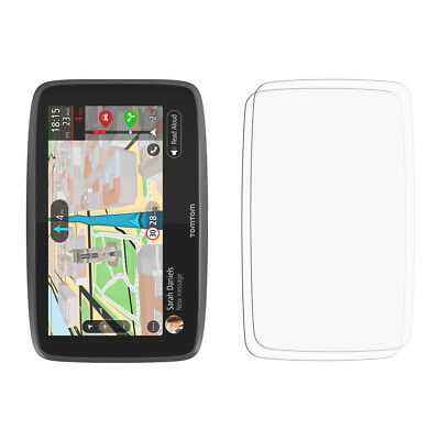 2 x Clear LCD Screen Protector Film Saver For TomTom GO 6200 - Glossy Cover