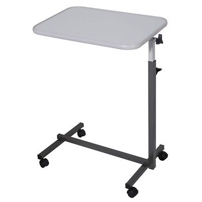 Adjustable Computer Table Desk Over Bed Hospital Food Tray Small Top Bed Rolling