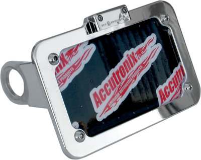 Accutronix Chrome Side Mount License Plate For 04-17 Harley Sportster Xl