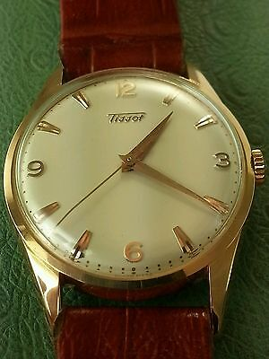Vintage Swiss Tissot 14k Rose/Pink SOLID Gold Watch(Recently SERVICED&Polished)