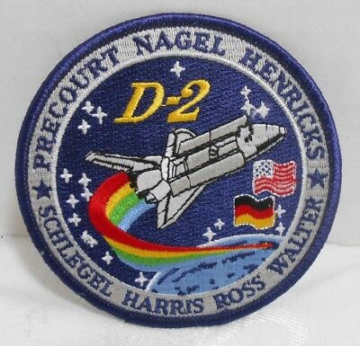 "NASA ARM/HAT PATCH Embroidered 4"" Mission STS-55 D-2 Columbia US Space Shuttle"