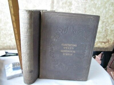 2 Vol.REPORT - GEOLOGICAL SURVEY of WISCONSIN,IOWA,MINNESOTA,1852,D.D.Owen,MAPS