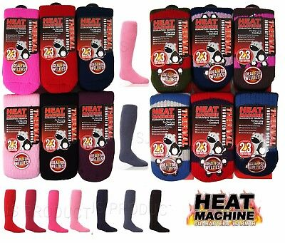 Boys Girls KIDS CHILDRENS 2.3 Tog THERMAL Welly SOCKS Heat Machine Long 9 to 5