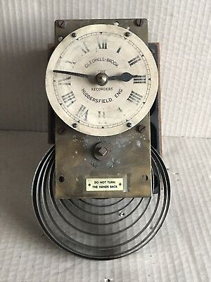 Large Vintage Clock Movement Marked Gledhill Brook Time Recorders - Spares/Parts