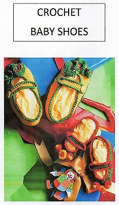 Vintage Crochet Pattern Baby Wear - Crochet Baby Shoes - 4 Ply - Laminated