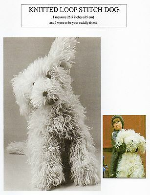 Vintage Knitting Pattern - Knitted Loop Stitch Dog Toy - Boucle - Laminated